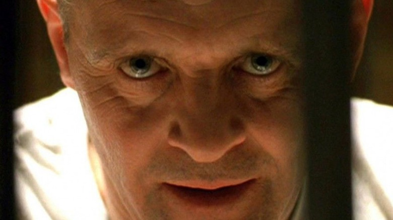 Hannibal Lecter leaning forward