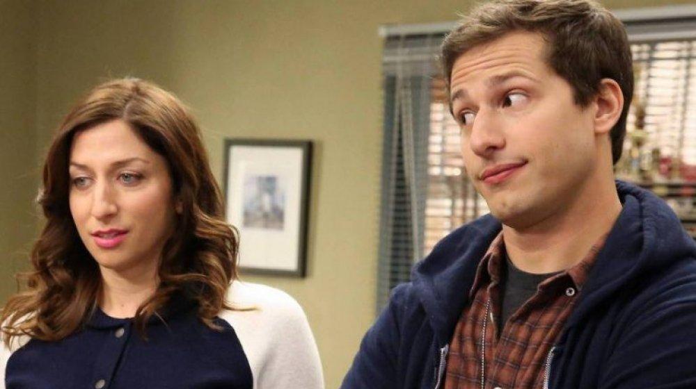 Chelsea Peretti and Andy Samberg on Brooklyn Nine-Nine