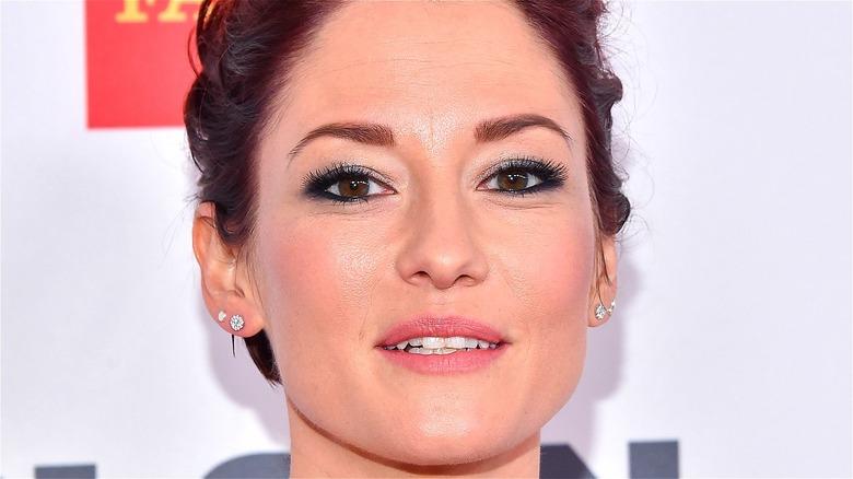 Chyler Leigh red carpet earrings