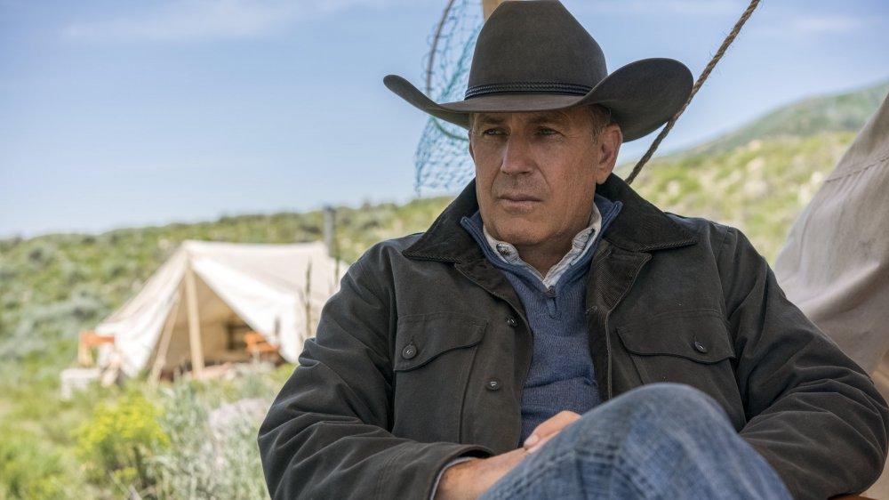 Kevin Costner's John Dutton surveys his land on Yellowstone