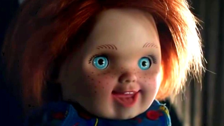 Chucky doll smiling in Cult of Chucky