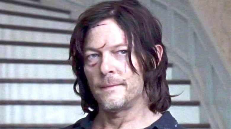 Daryl Dixon with facial scars