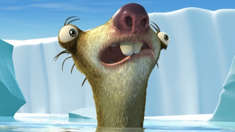 Sid staying afloat in Ice Age