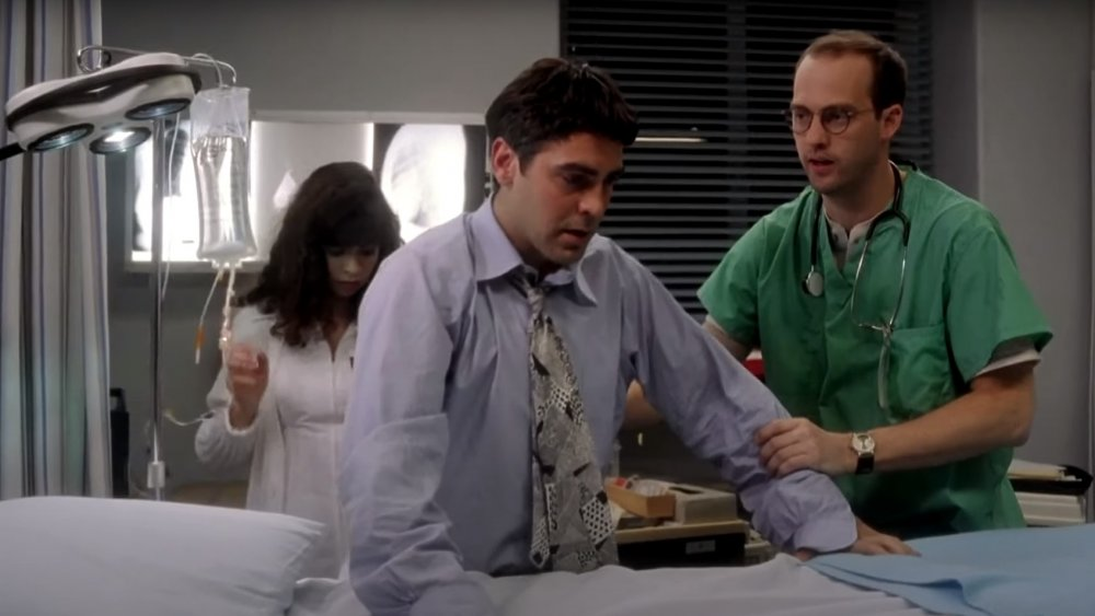 Screenshot of George Clooney from the first episode of ER