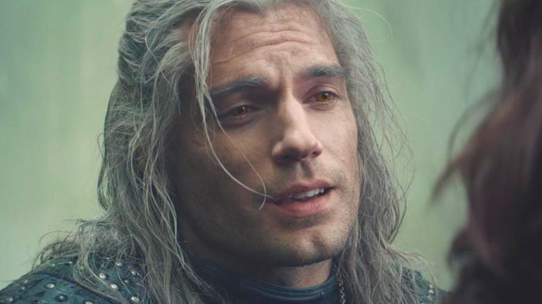Geralt looking smug
