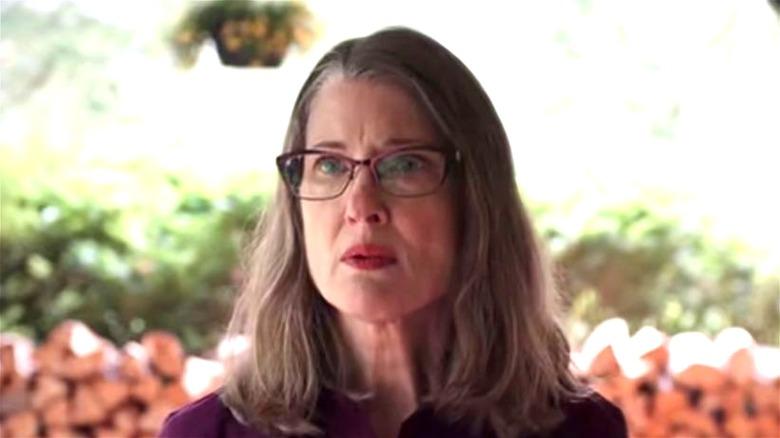 Hope McCrea wearing her glasses