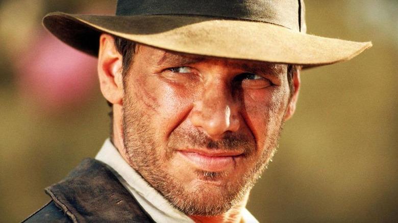 Indiana Jones squinting