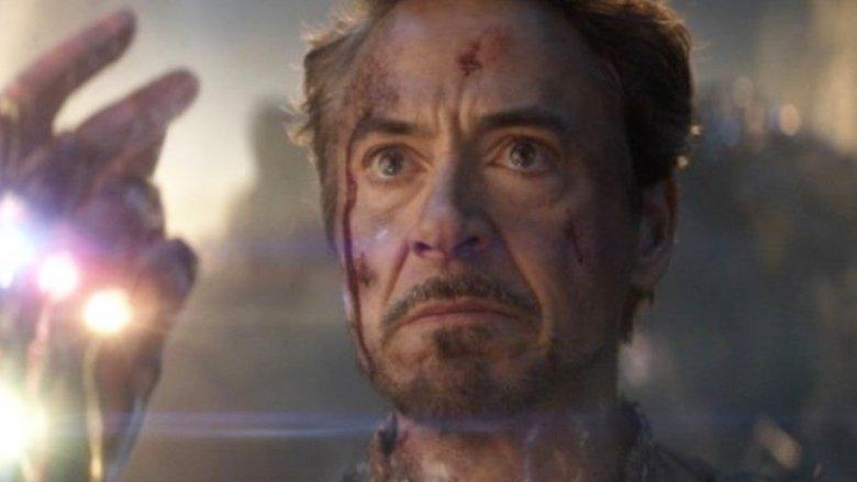 Robert Downey Jr. Iron Man Avengers: Endgame snap