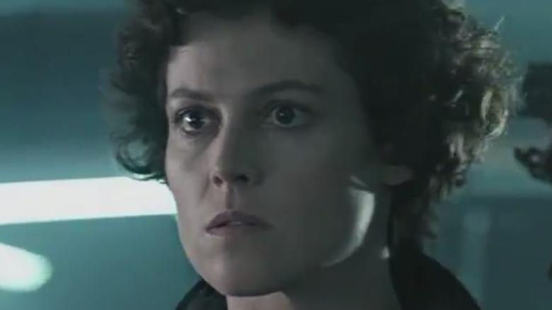 Sigourney Weaver Ellen Ripley determined