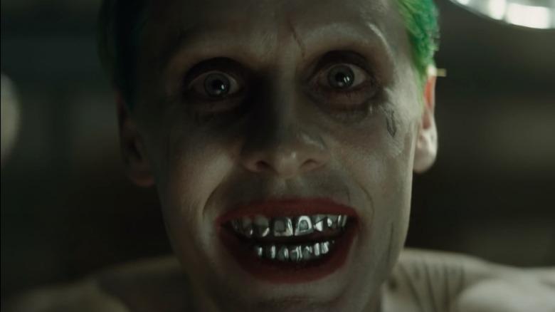 The Joker shows his teeth