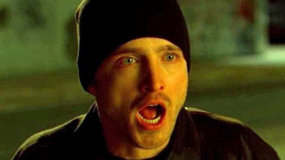 Jesse Pinkman with mouth agape
