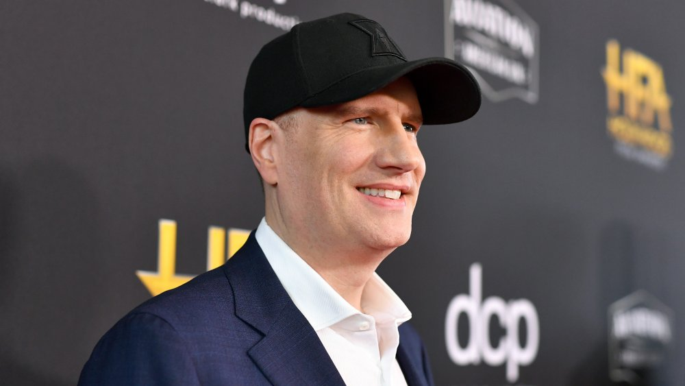 Kevin Feige at a press event