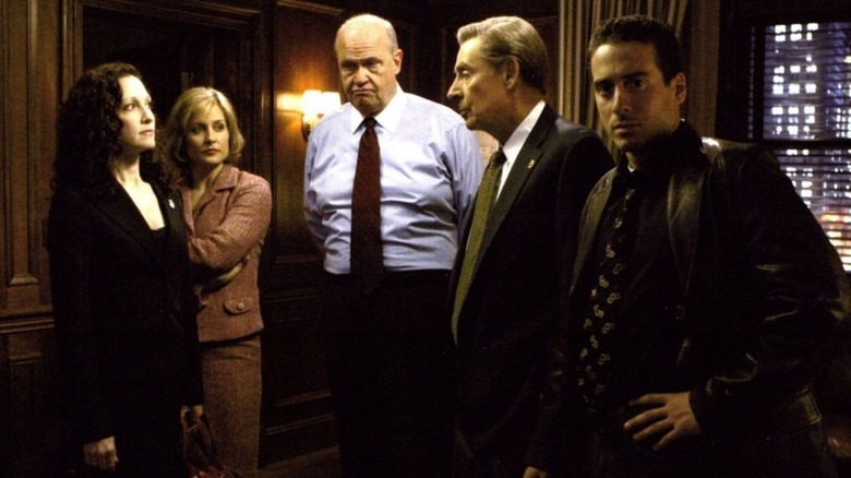 the main cast of Law and Order: Trial by Jury plus Jerry Orbach as Det. Lennie Briscoe, who died shortly before the series aired