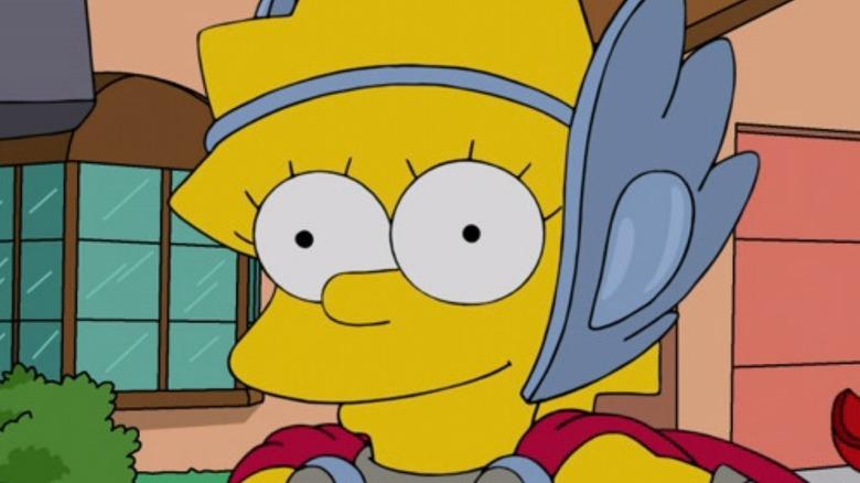 Lisa Simpson as thor