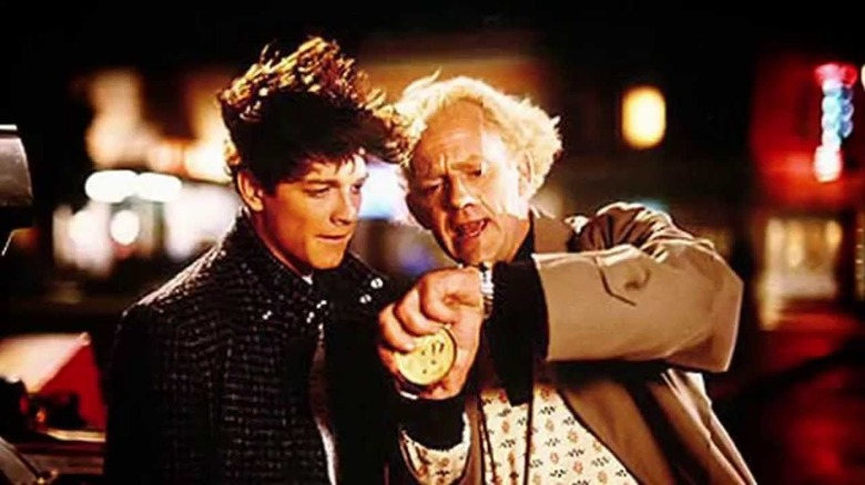 Eric Stoltz and Christopher Lloyd in a deleted scene from Back to the Future
