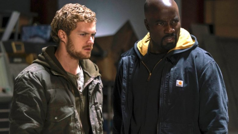 Mike Colter and Finn Jones in Luke Cage