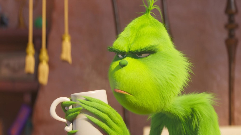 The Grinch, as voiced by Benedict Cumberbatch in The Grinch