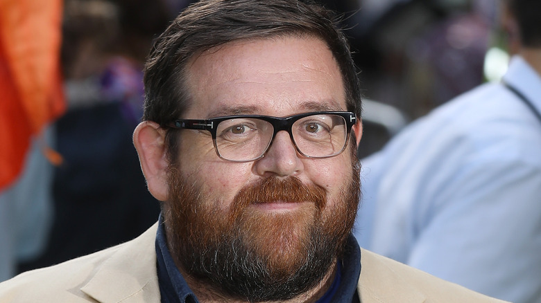 Nick Frost smiles