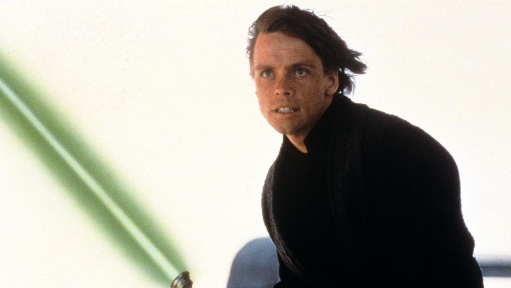 Luke Skywalker with green lightsaber
