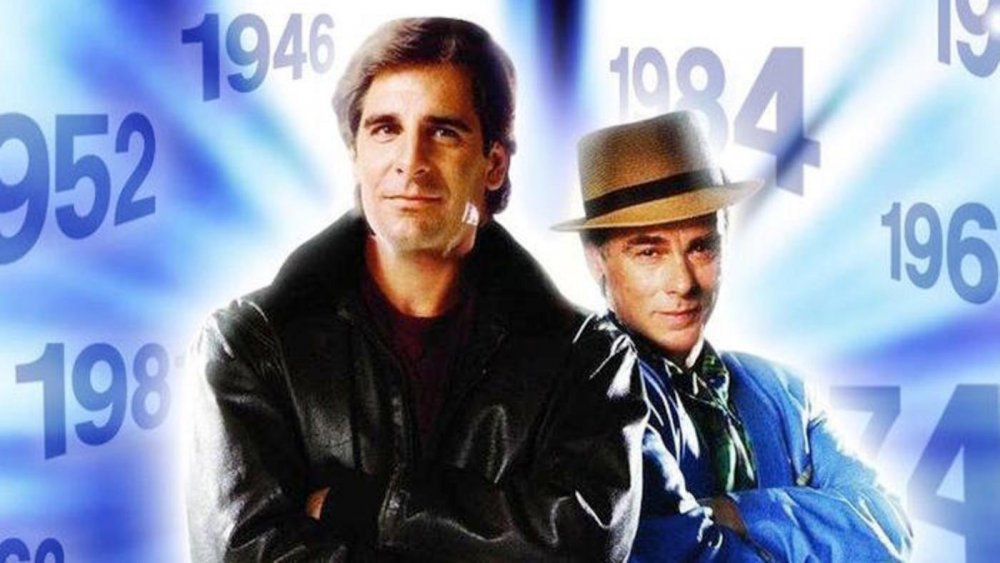 Scott Bakula as and Dean Stockwell in Quantum Leap