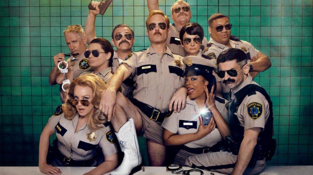 The Quibi Reno 911! cast in 2020