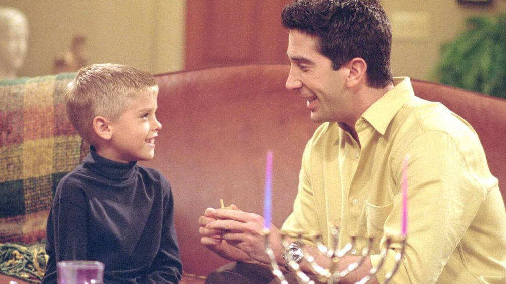 Cole Sprouse and David Schwimmer on Friends