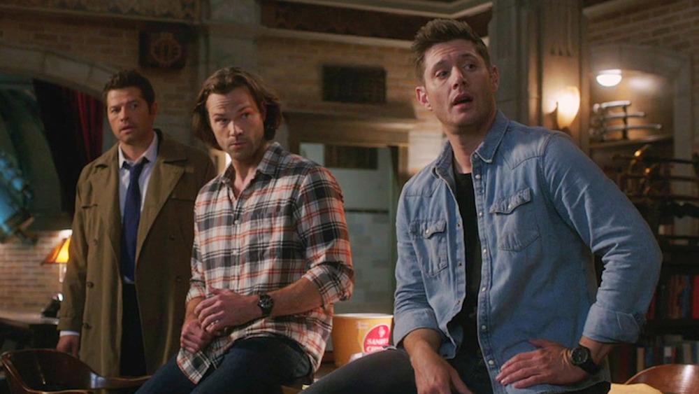 Misha Collins, Jared Padalecki, and Jensen Ackles on Supernatural