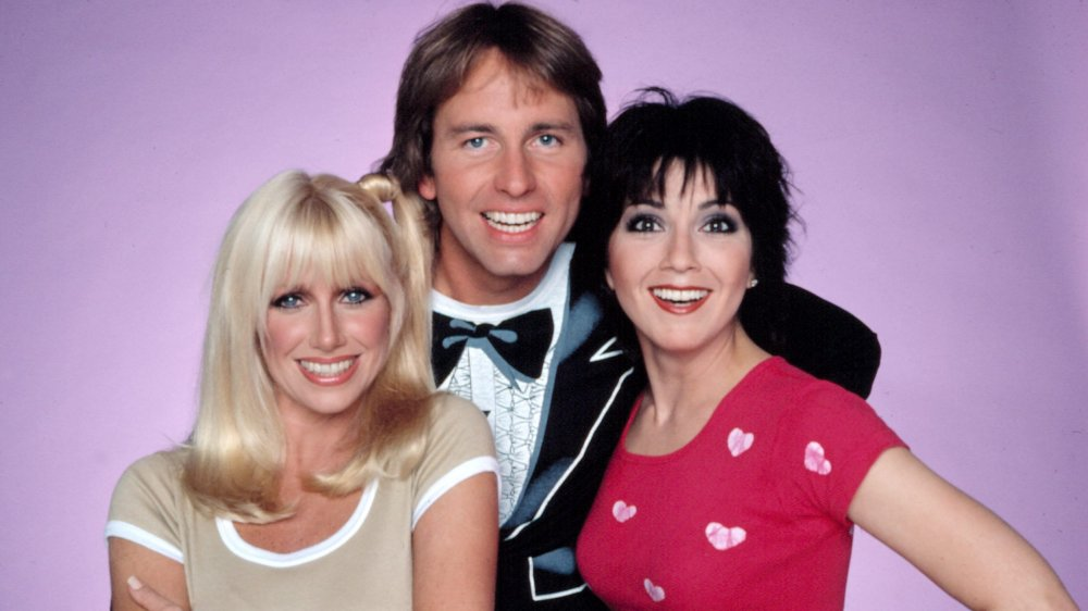 Suzanne Somers, John Ritter, and Joyce DeWitt in Three's Company