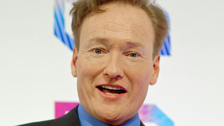 Conan O'Brien press smile