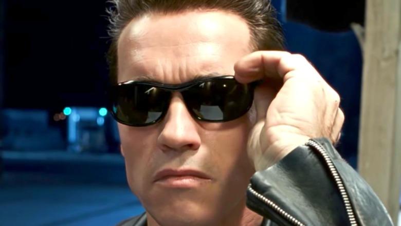 Arnold as the Terminator