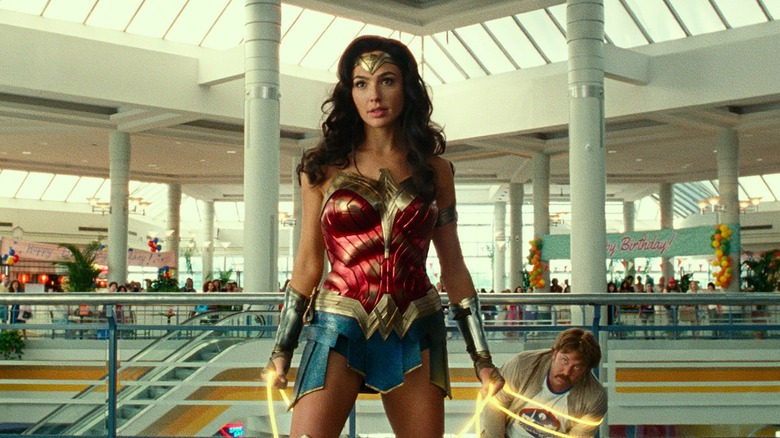 Wonder Woman holding golden lasso
