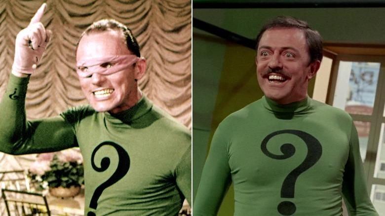 Frank Gorshin and John Astin as the Riddler in Batman