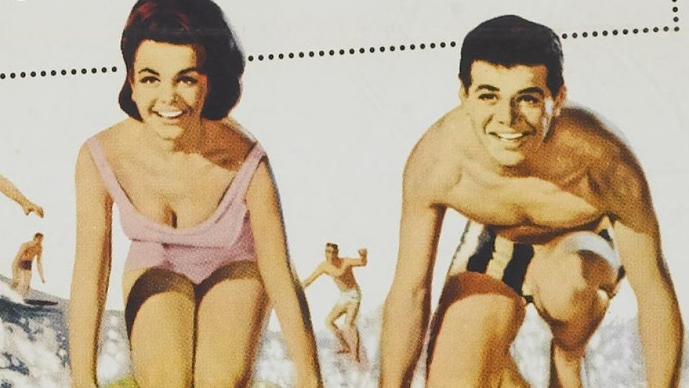 Annette Funicello and Frankie Avalon on the poster for Beach Party