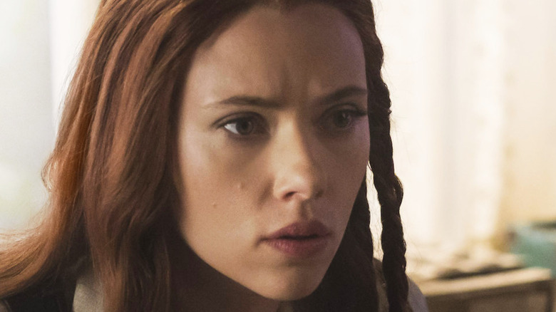 Black Widow with one braid in hair