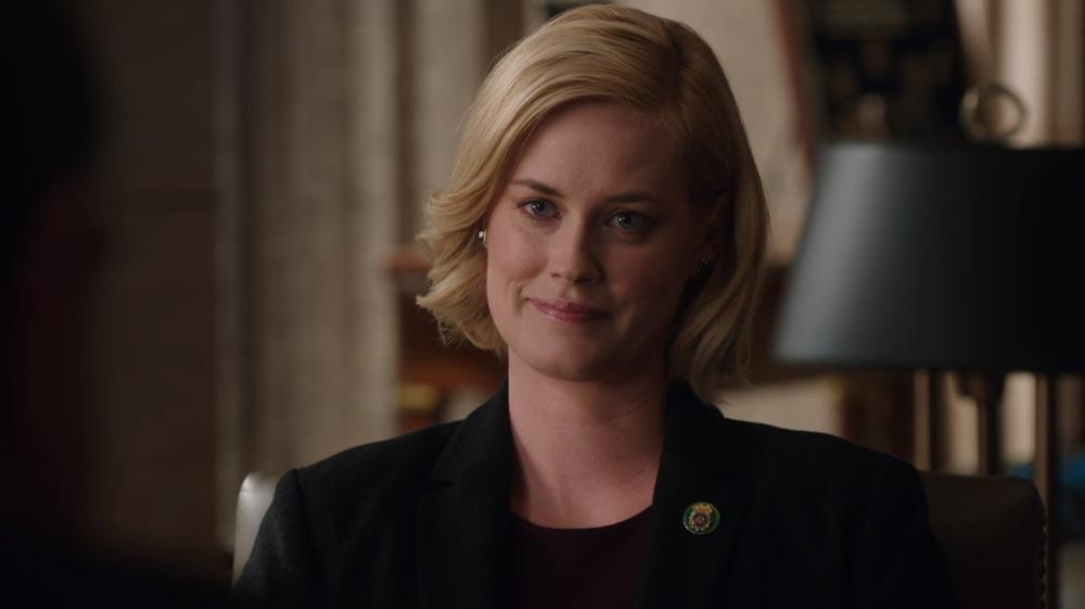 Abigail Hawk plays Detective Abigail Baker on Blue Bloods