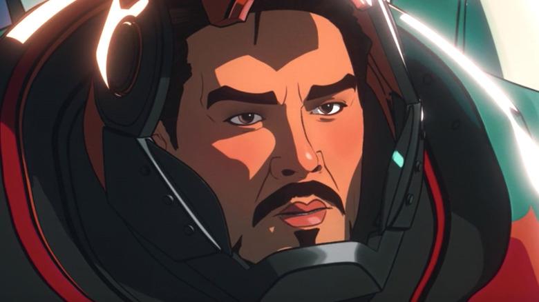 Tony Stark wearing Sakaaran armor