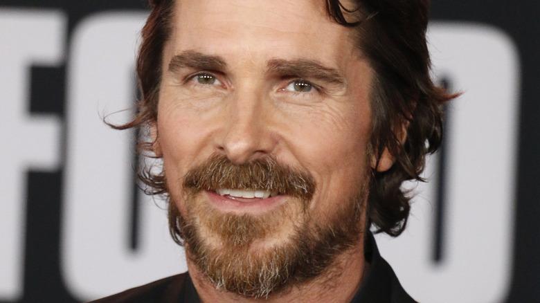 Christian Bale smiling