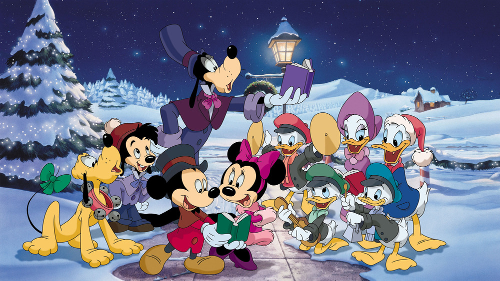Mickey and the gang go carolling