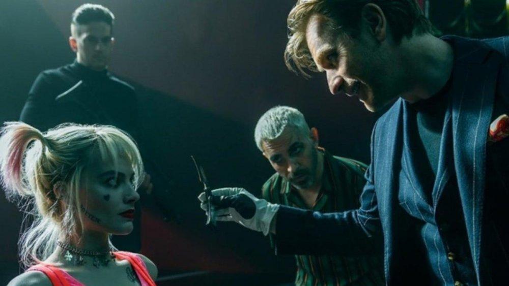 Black Mask confronts Harley Quinn for her many slights against him in Birds of Prey