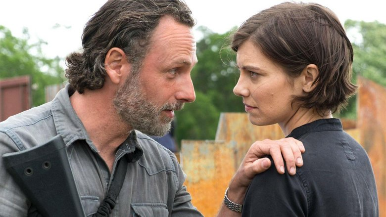 Lincoln (Rick) and Lauren (Maggie)