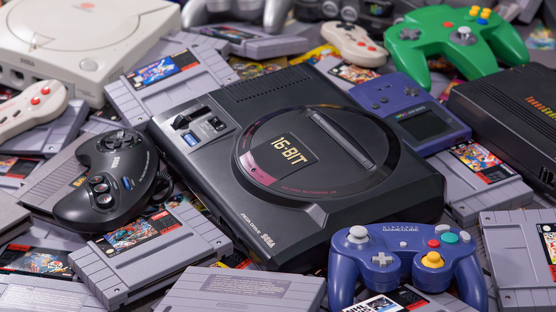 Retro video game consoles and games