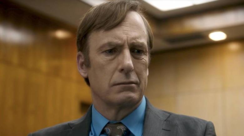 Saul Goodman frowning