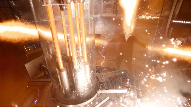 Peter Capaldi regenerates on Doctor Who