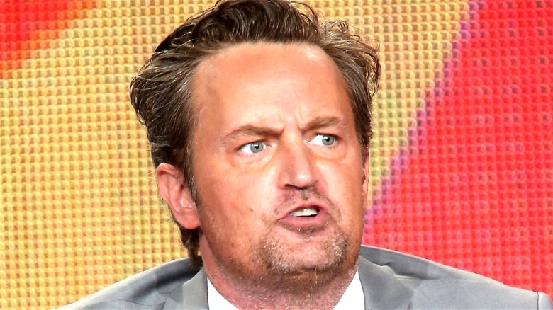 Matthew Perry making a face