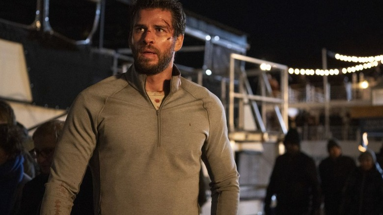 Liam Hemsworth as Dodge Tynes in Most Dangerous Game