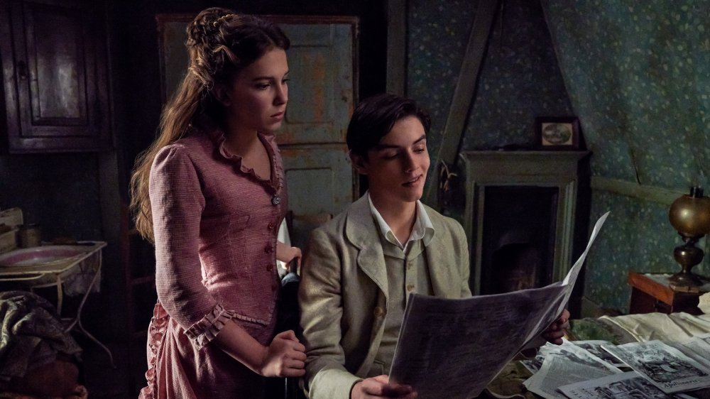 Millie Bobby Brown and Louis Partridge star in the Netflix film Enola Holmes