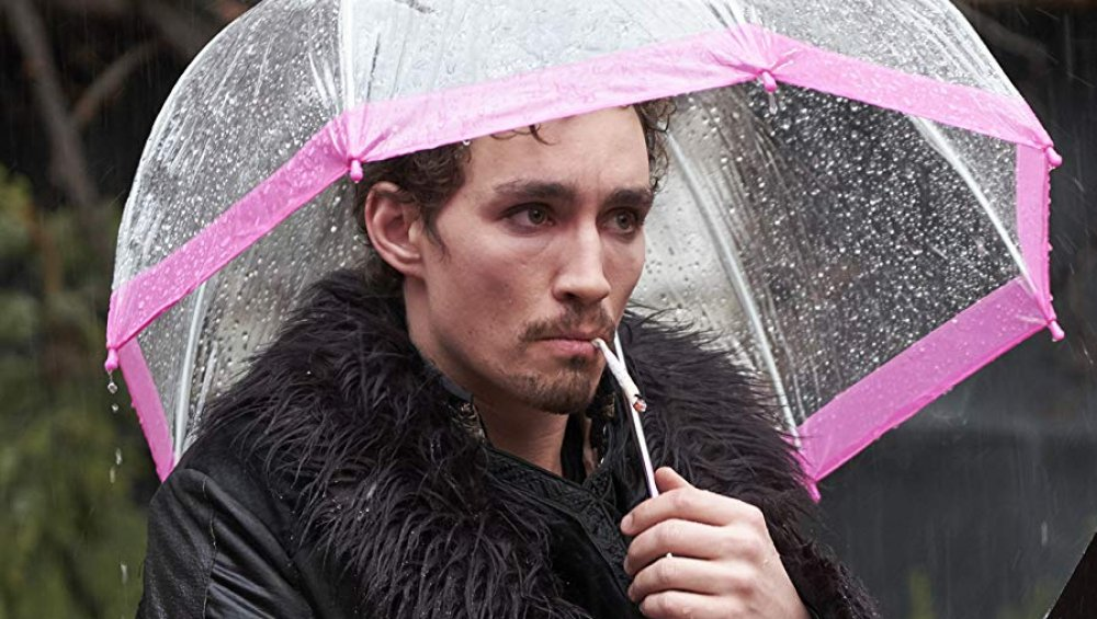 Robert Sheehan as Klaus Hargreeves on The Umbrella Academy