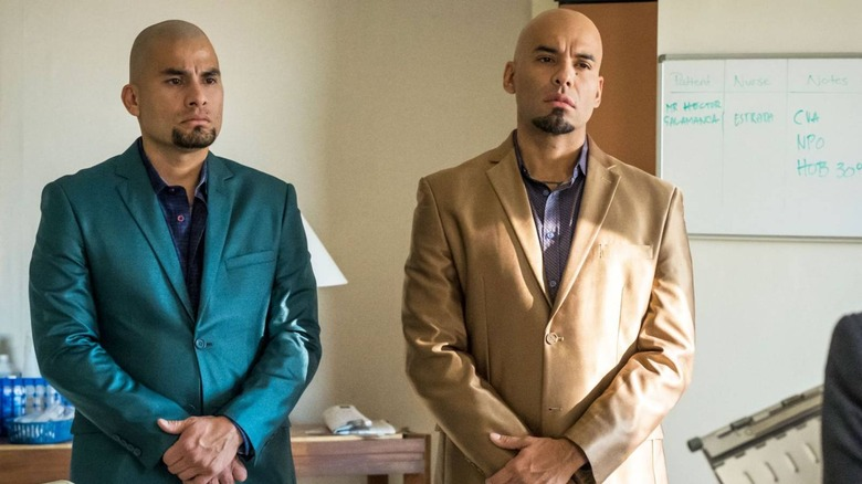 Daniel and Luis Moncada as the Salamanca twins on Breaking Bad