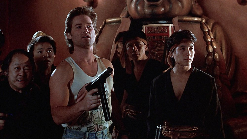 Victor Wong and Kurt Russell in Big Trouble in Little China