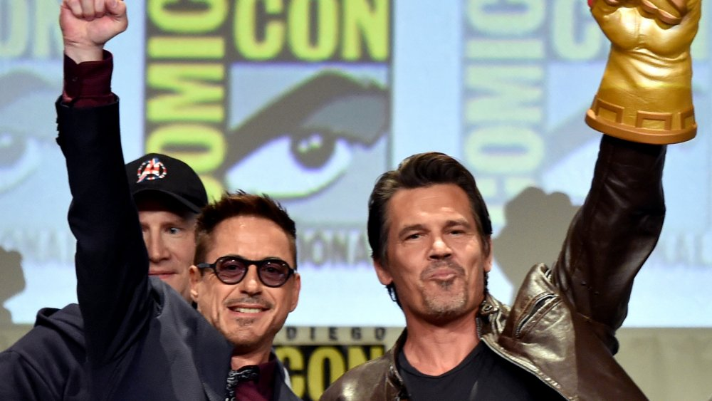 Robert Downey Jr. and Josh Brolin at San Diego Comic-Con